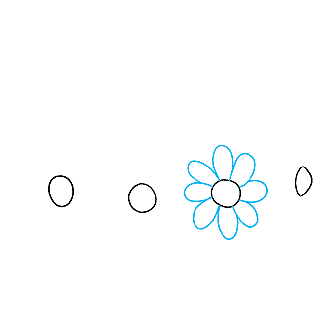 How to Draw a Flower Crown Step 02