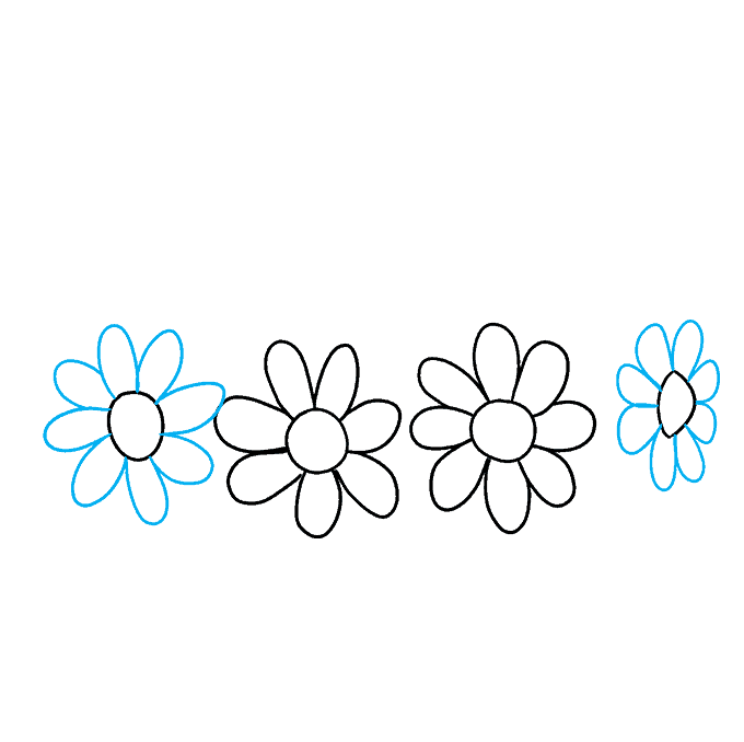 How to Draw a Flower Crown Step 04