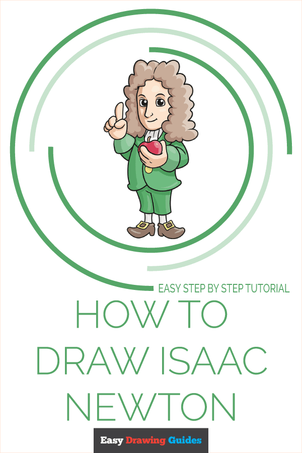 How to Draw Isaac Newton | Share to Pinterest