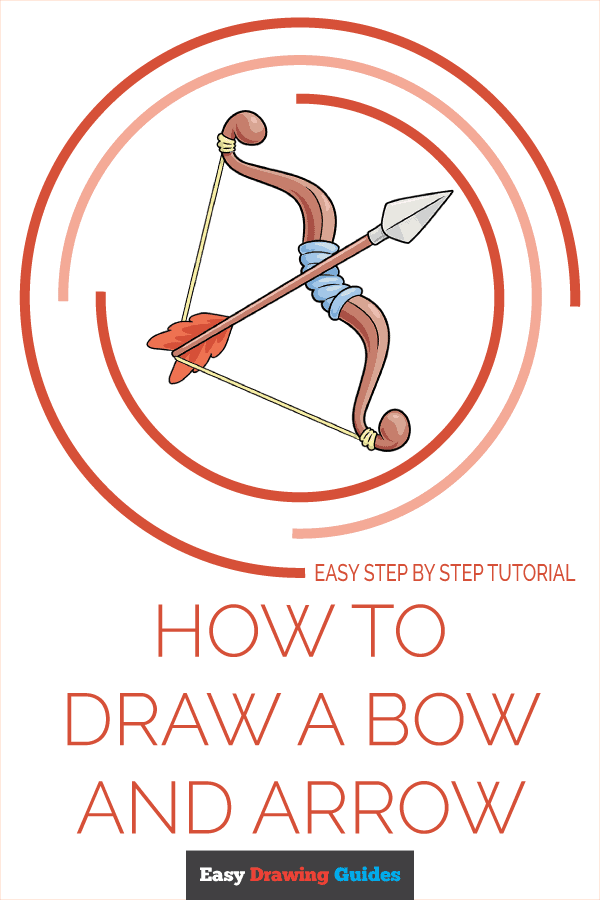 How to Draw a Bow and Arrow Pinterest Image