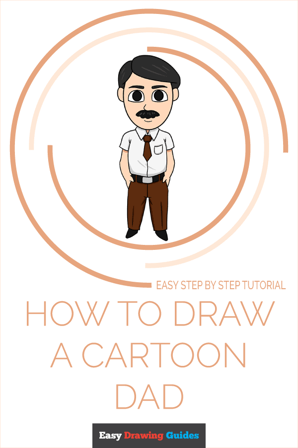 How to Draw a Cartoon Dad Pinterest Image