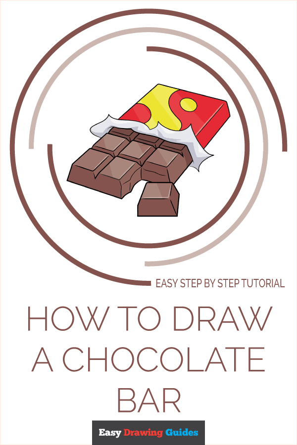 How to Draw a Chocolate Bar Pinterest Image