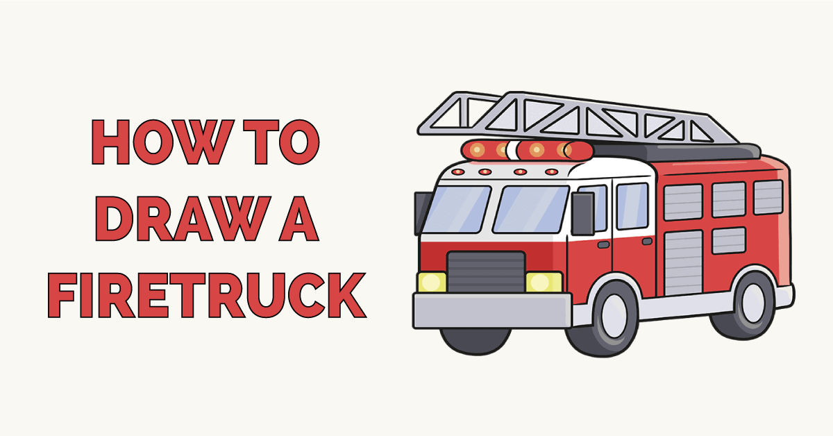 how to Draw a Firetruck Featured Image