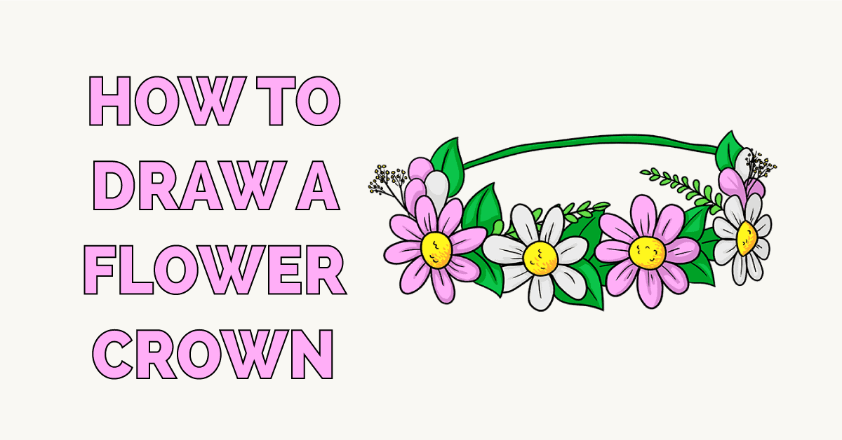 How to Draw a Flower Crown Featured Image