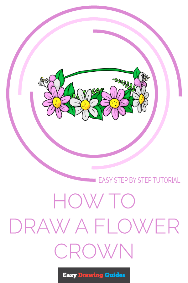 How to Draw a Flower Crown Pinterest Image