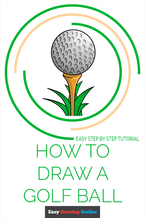 How to Draw a Golf Ball Pinterest Image