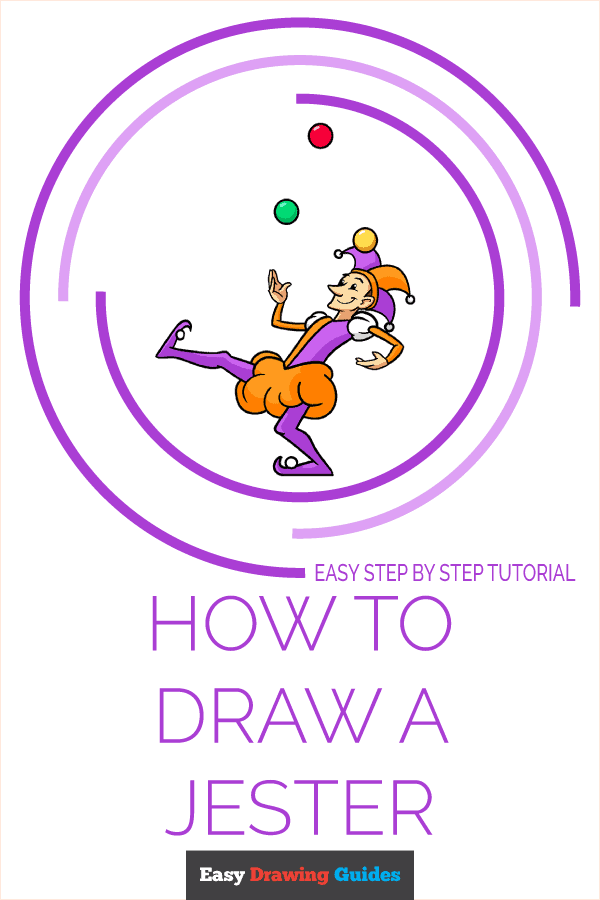 How to Draw a Jester Pinterest Image