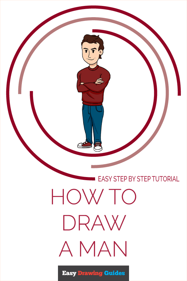 How to Draw a Man Pinterest Image