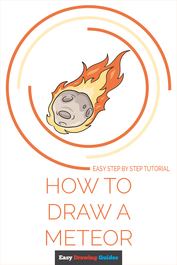 How to Draw a Meteor Pinterest Image