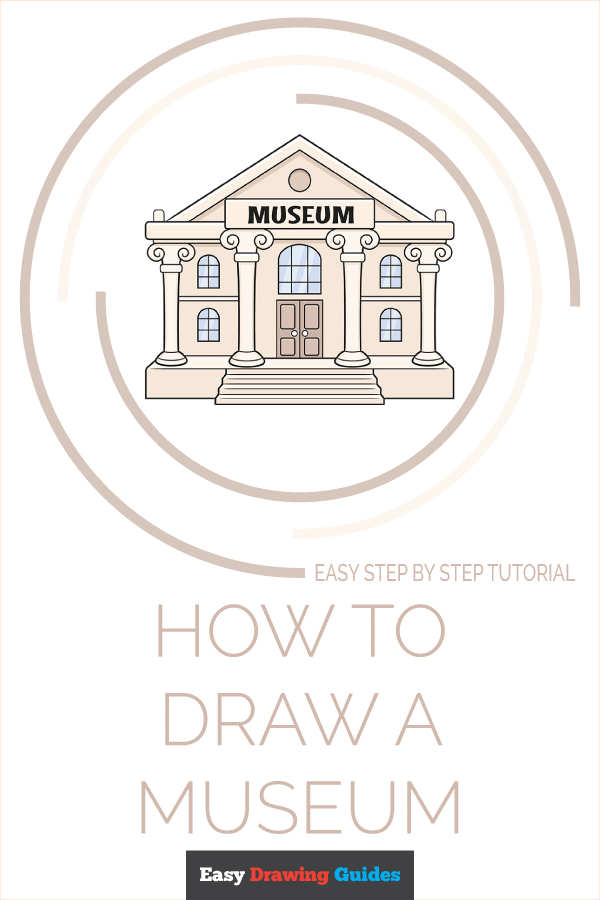 How to Draw a Museum Pinterest Image