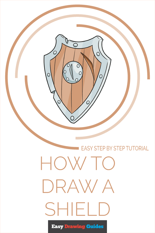 How to Draw a Shield Pinterest Image