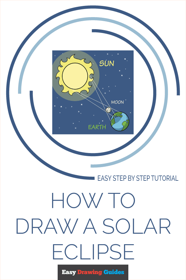 How to Draw a Solar Eclipse Pinterest Image