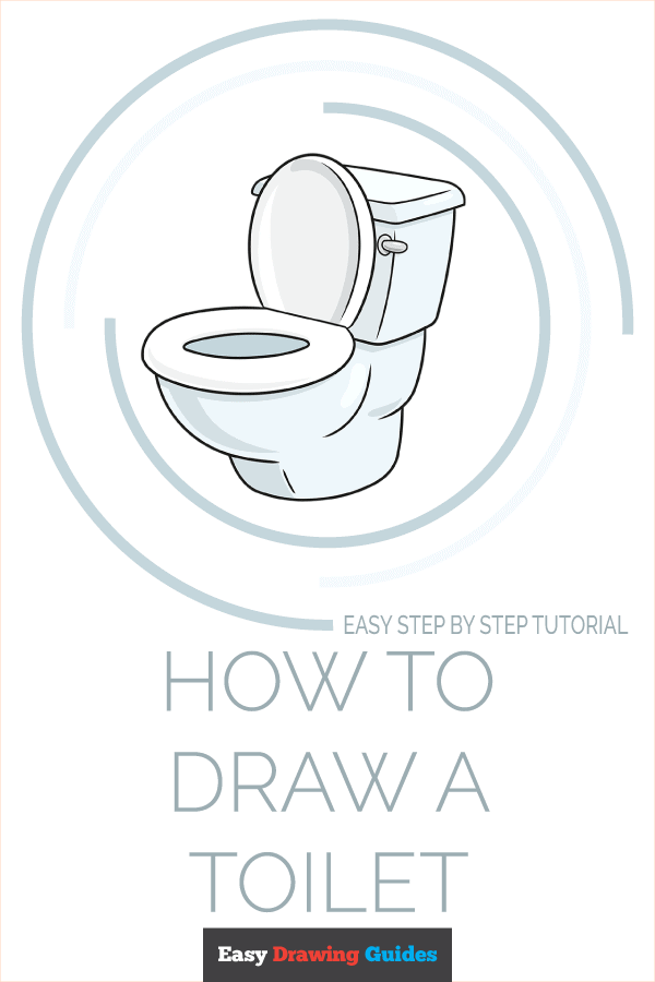 How to Draw Toilet   Share to Pinterest