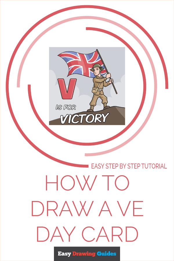 How to Draw a VE Day Card Pinterest Image