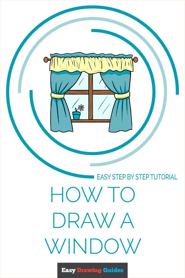 How to Draw a Window Pinterest Image