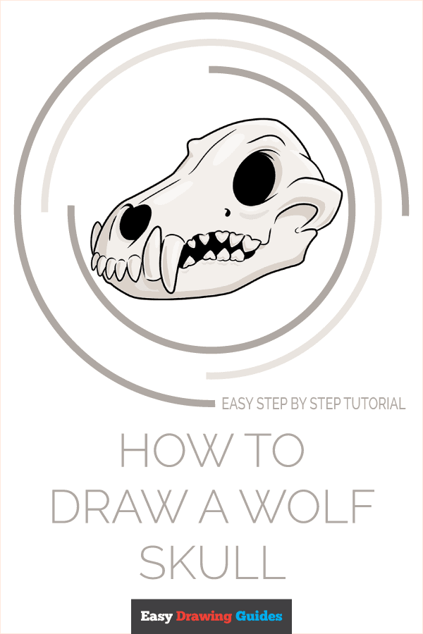 How to Draw Wolf Skull | Share to Pinterest