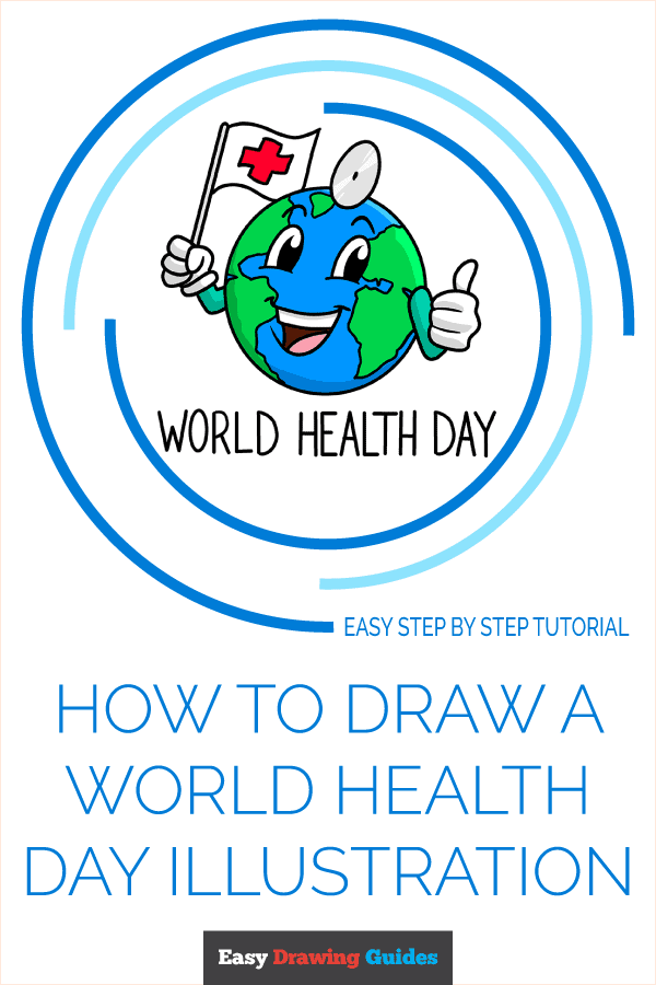 How to Draw World Health Day Illustration | Share to Pinterest