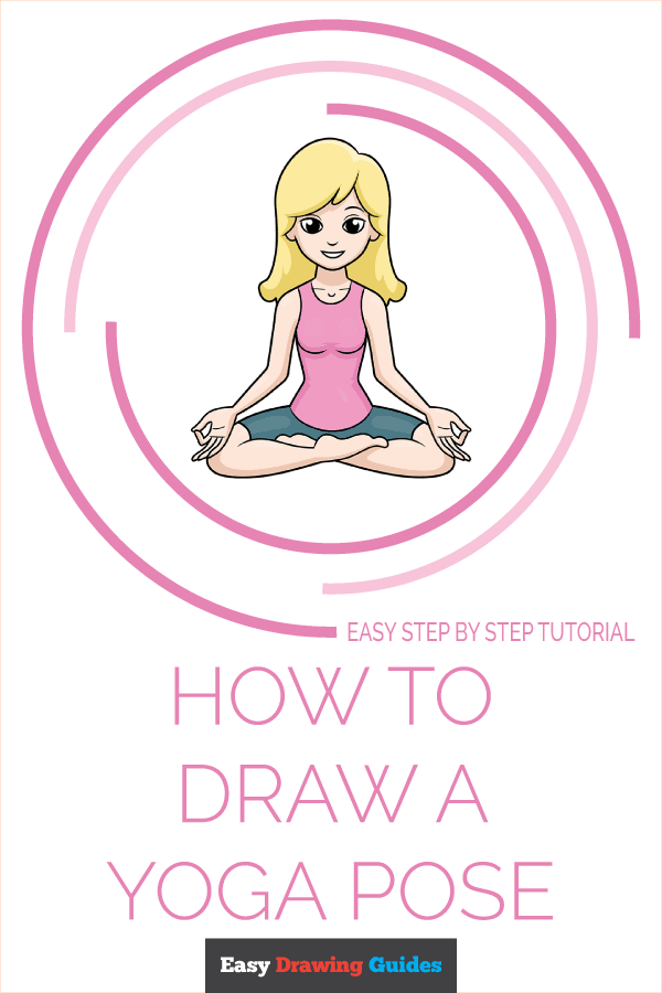 How to Draw a Yoga Pose Pinterest Image