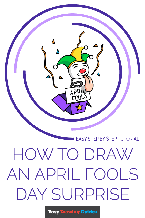 How to Draw April Fools Day Surprise | Share to Pinterest