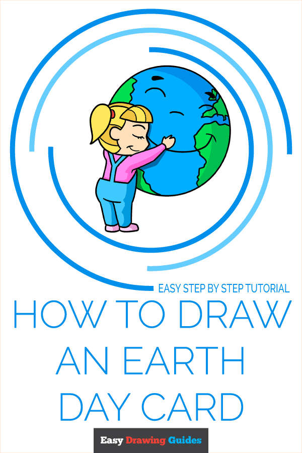 How to Draw an Earth Day Card Pinterest Image