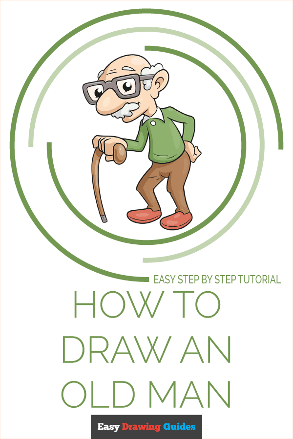 How to Draw an Old Man Pinterest Image