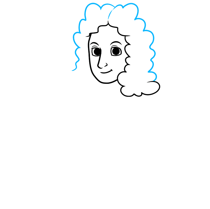How to Draw Isaac Newton: Step 3