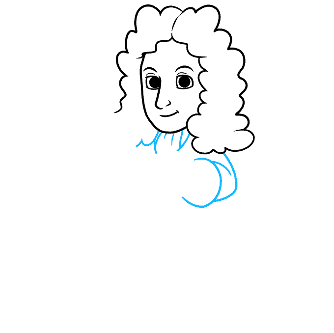 How to Draw Isaac Newton: Step 4