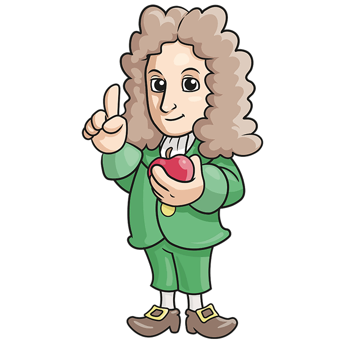 How to Draw Isaac Newton: Step 10