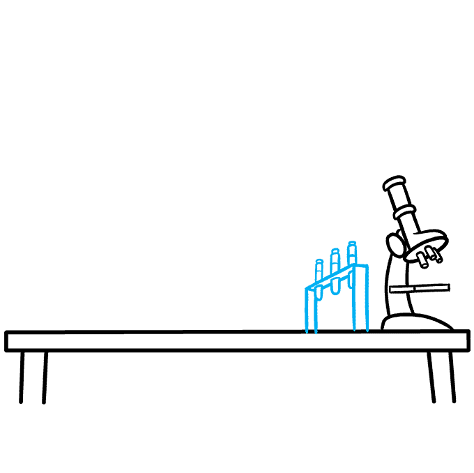 How to Draw a Laboratory Step 04