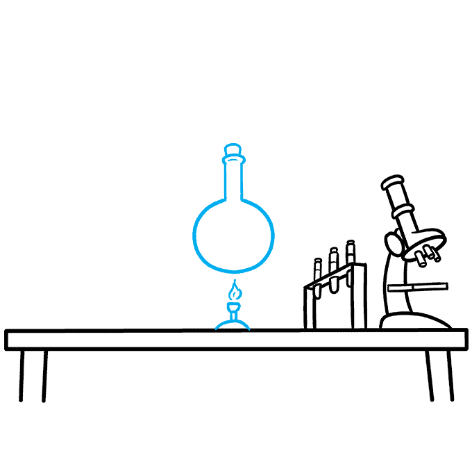 How to Draw a Laboratory Step 05