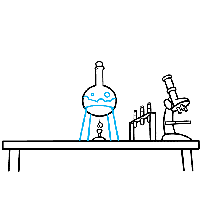 How to Draw a Laboratory Step 06