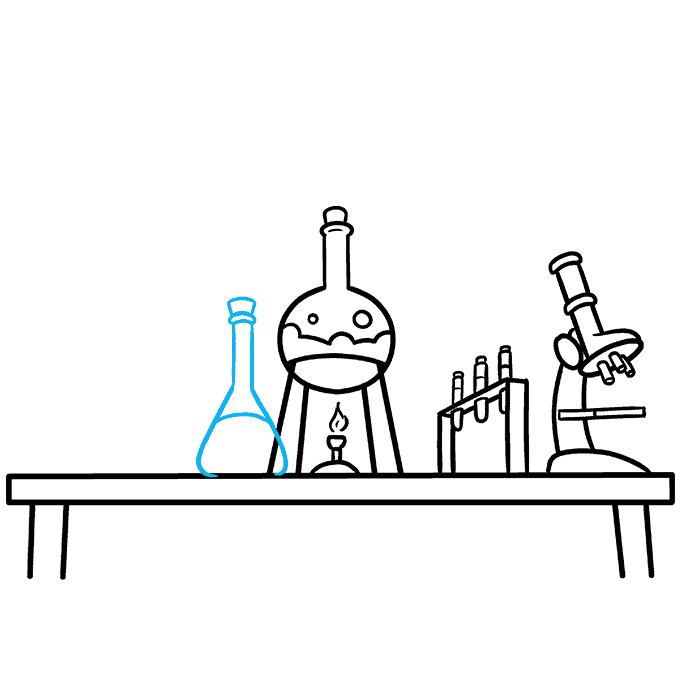 How to Draw a Laboratory Step 07