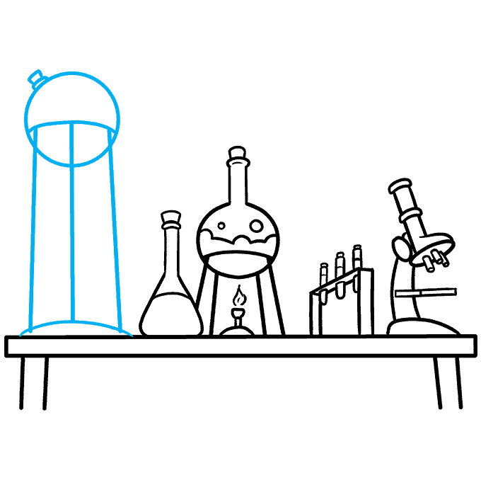 How to Draw a Laboratory Step 08