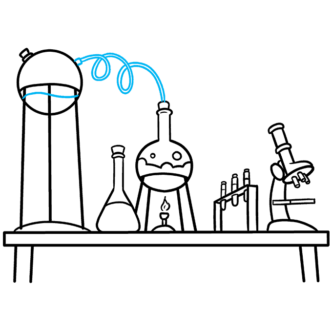 How to Draw a Laboratory Step 09