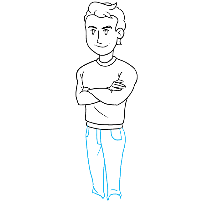 How to Draw a Man Step 08