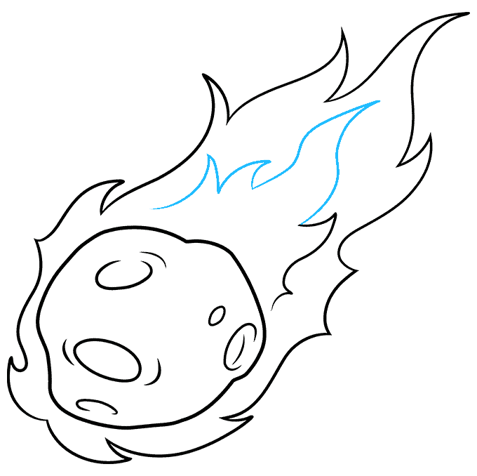 How to Draw a Meteor Step 09