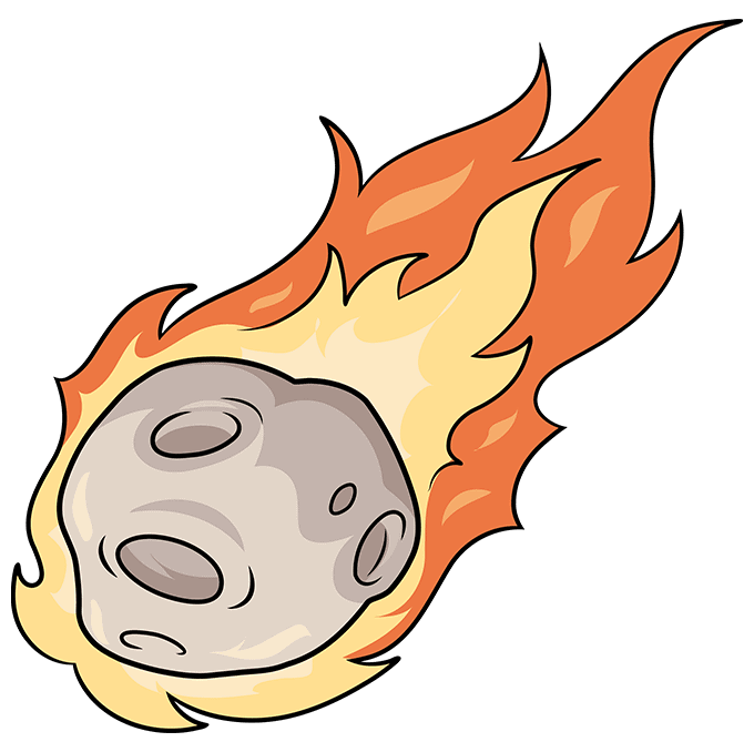 How to Draw a Meteor Step 10