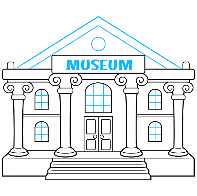 How to Draw a Museum Step 09