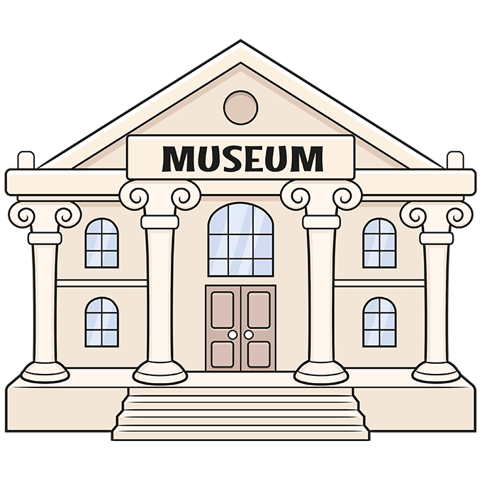 How to Draw a Museum Step 10