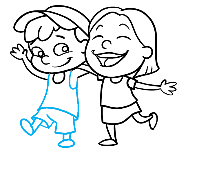 How to Draw a National Siblings Day Poster Step 07