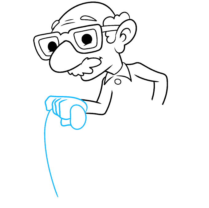 How to Draw an Old Man Step 06
