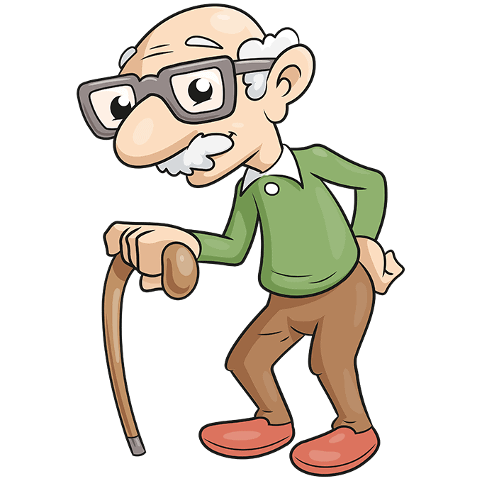 How to Draw an Old Man Step 10