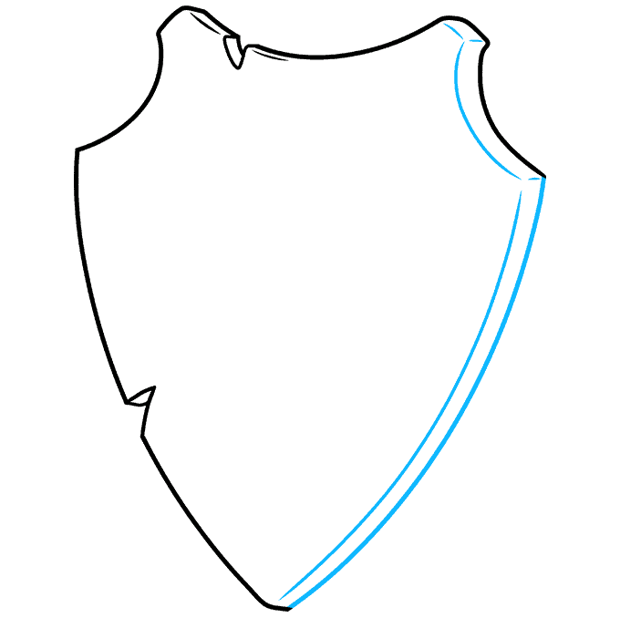 How to Draw a Shield Step 04