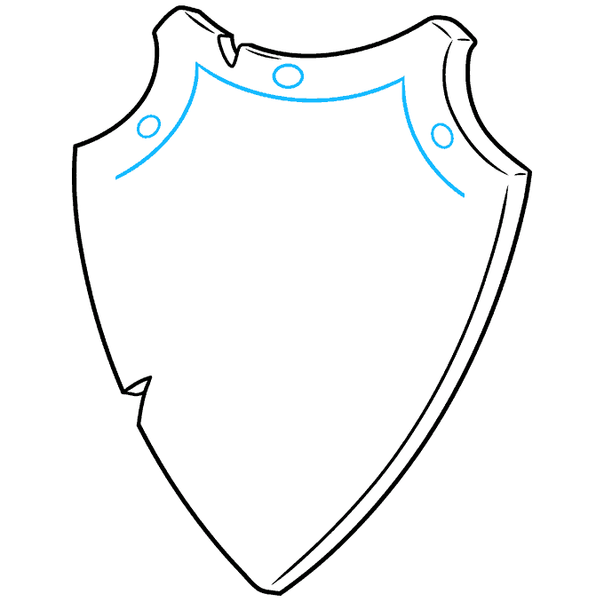 How to Draw a Shield Step 05
