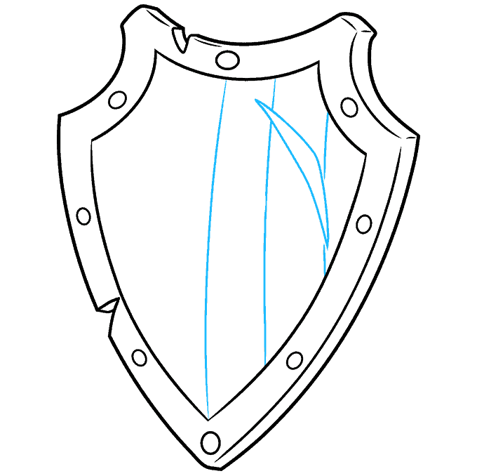How to Draw a Shield Step 07