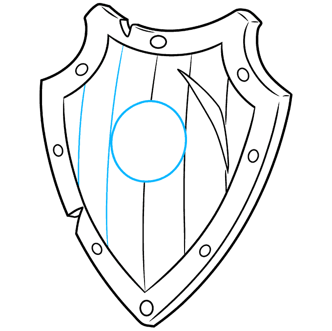 How to Draw a Shield Step 08
