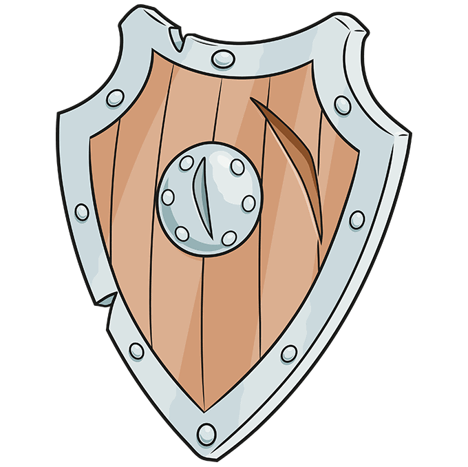 How to Draw a Shield Step 10