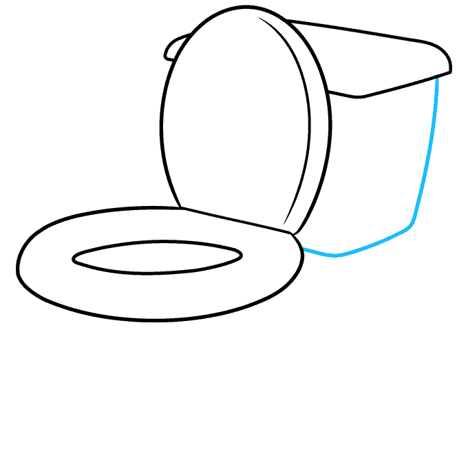 How to Draw Toilet: Step 5
