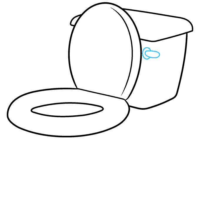 How to Draw Toilet: Step 6