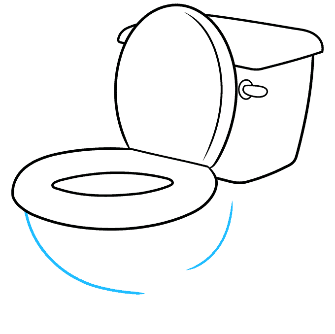 How to Draw Toilet: Step 7